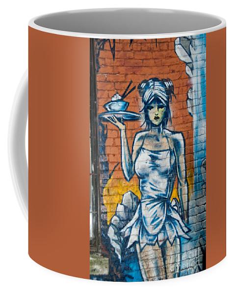 Canada Coffee Mug featuring the digital art Grafitti Wall by Carol Ailles