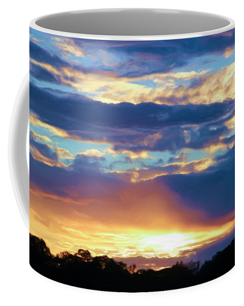 Grand Canyon Coffee Mug featuring the photograph Grand Canyon Sky Over Treetops by Heidi Smith