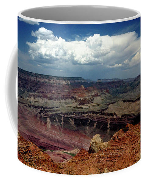 Grand Canyon View Sky Coffee Mug featuring the photograph Grand Canyon View - Greeting Card by Mark Valentine