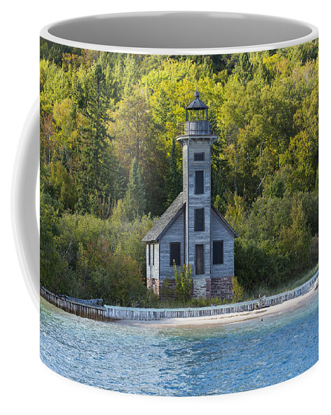 Grand Coffee Mug featuring the photograph Grand Island E Channel Lighthouse 3 by John Brueske
