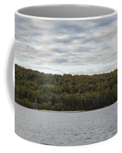 Grand Coffee Mug featuring the photograph Grand Island E Channel Lighthouse 5 by John Brueske