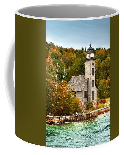 Art Coffee Mug featuring the photograph Grand Island Lighthouse No.1442 by Randall Nyhof