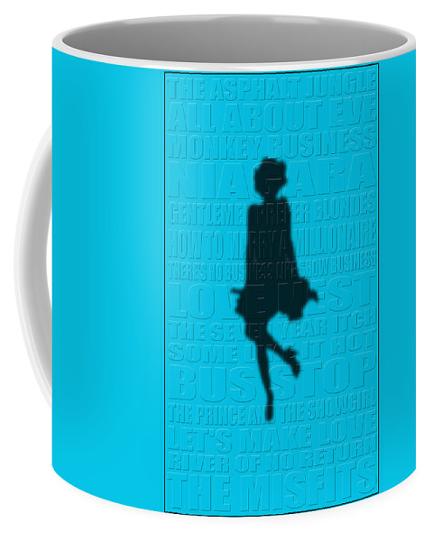 Marilyn Monroe Coffee Mug featuring the photograph Graphic Marilyn Monroe by Andrew Fare