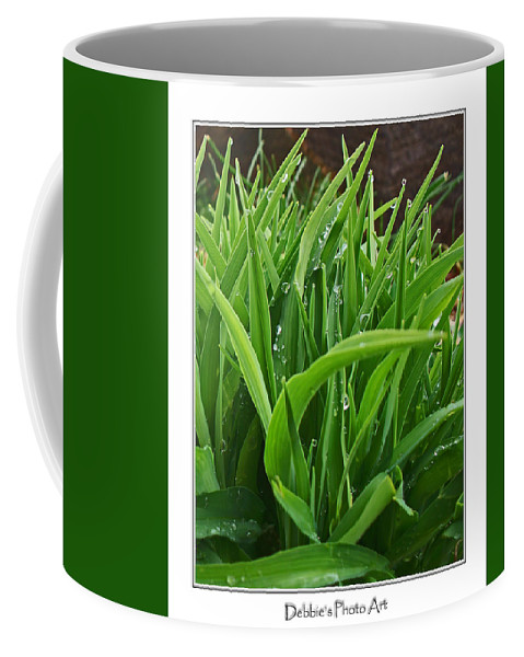 Botanical Coffee Mug featuring the photograph Grassy Drops by Debbie Portwood