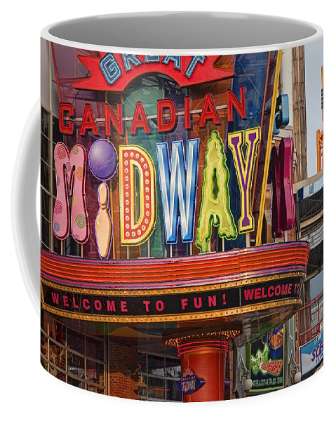 Art Coffee Mug featuring the photograph Great Canadian Midway by Randall Nyhof