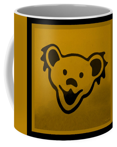 Greatful Dead Coffee Mug featuring the photograph Greatful Dead Dancing Bear In Orange by Rob Hans