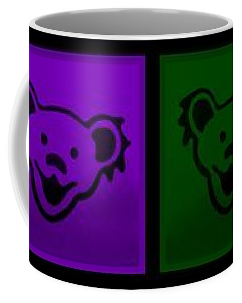 Greatful Dead Coffee Mug featuring the photograph Greatul Dead Dancing Bears In Muti Colors by Rob Hans