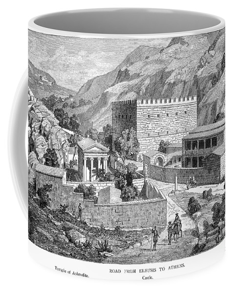 Ancient Coffee Mug featuring the photograph Greece: Road To Athens by Granger