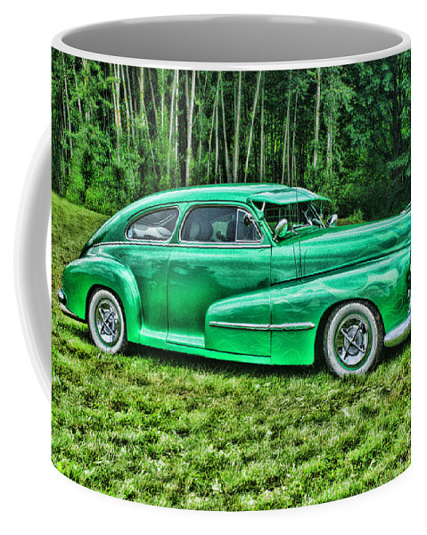 Cars Coffee Mug featuring the photograph Green Classic Hdr by Randy Harris