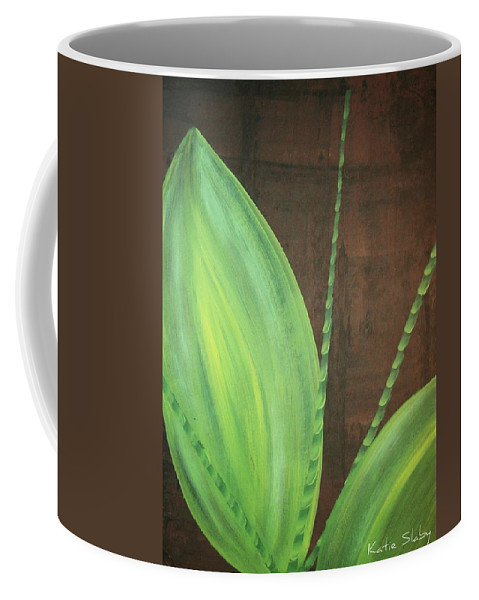 Green Leaves Coffee Mug featuring the painting Green Foliage by Katie Slaby
