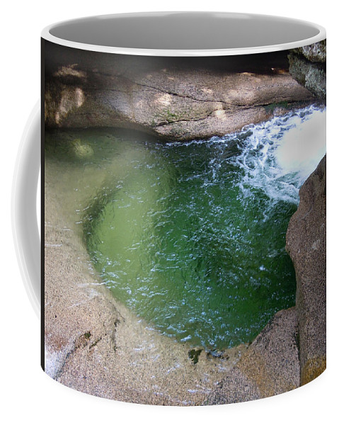 Rocks Coffee Mug featuring the photograph Green Pool At Sabbath Day Falls by Nancy Griswold