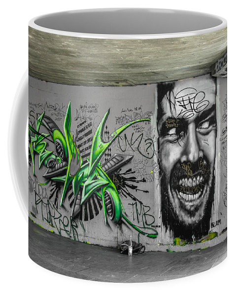 Street Art Coffee Mug featuring the photograph Green With Envy by Jonah Anderson