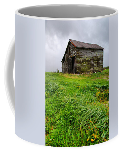 Barn Coffee Mug featuring the photograph Grey County Barn by Cale Best