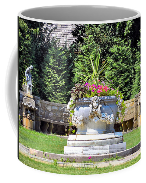 Statue Coffee Mug featuring the photograph Grounds by Art Dingo