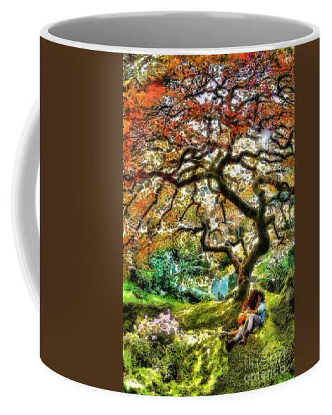 Growing Coffee Mug featuring the painting Growing by Mo T