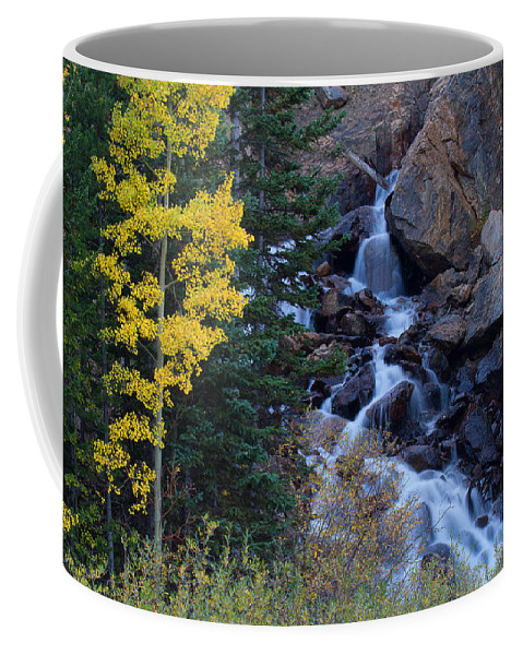Rivers & Streams Photograph Coffee Mug featuring the photograph Guanella Falls by Jim Garrison