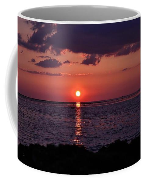 Gulf Coffee Mug featuring the photograph Gulfview Sunset by Kari Tedrick