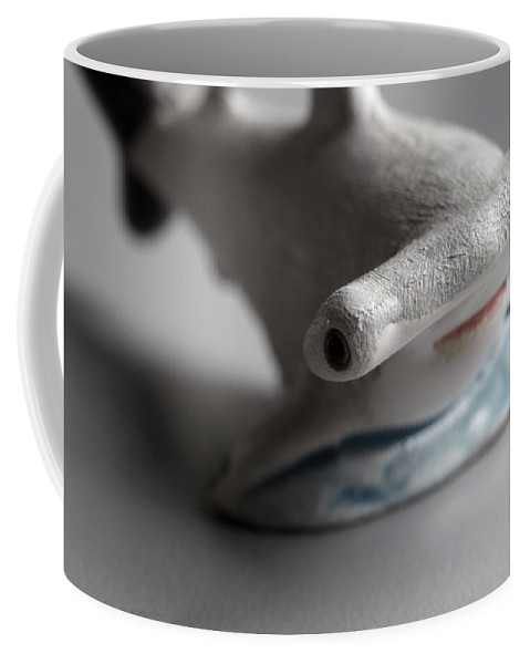 The Hammerhead Sharks Are A Group Of Sharks In The Family Sphyrnidae Coffee Mug featuring the photograph Hammer On by Greg Kopriva