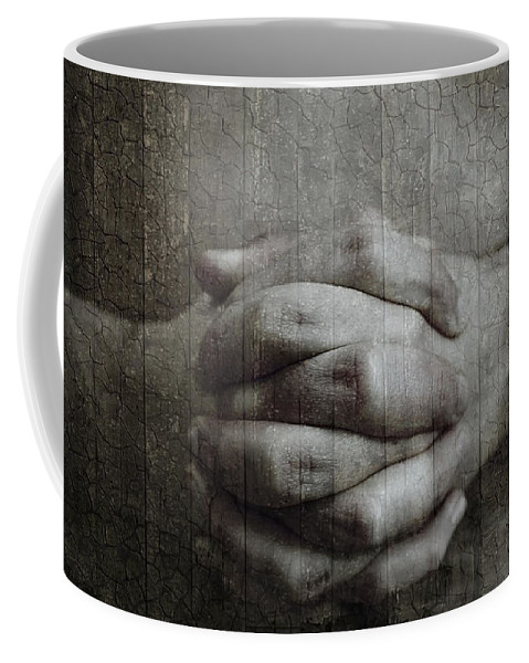Abstract Coffee Mug featuring the photograph Hand Lock by Svetlana Sewell