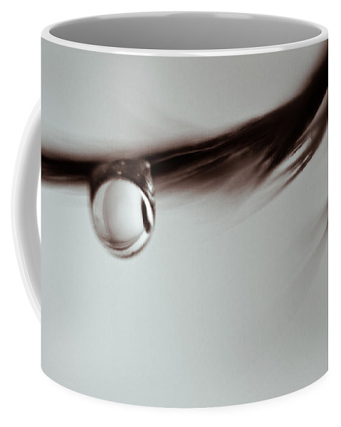 Feather Coffee Mug featuring the photograph Hanging On by Lauri Novak