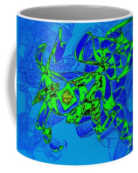 Happy Dance Coffee Mug featuring the digital art Happy Dance by Klara Acel
