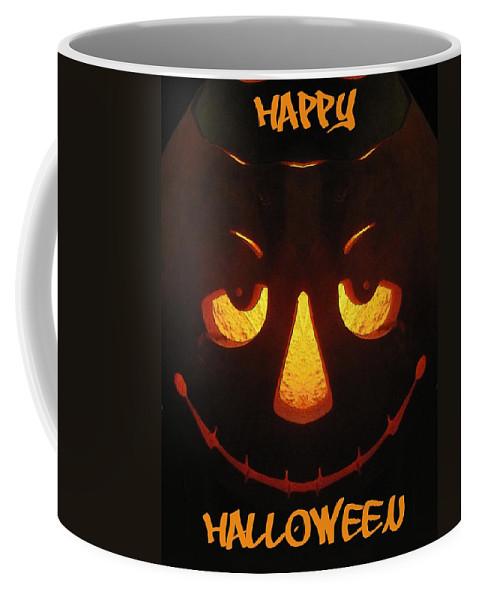 Halloween Coffee Mug featuring the digital art Happy Halloween by Tim Allen