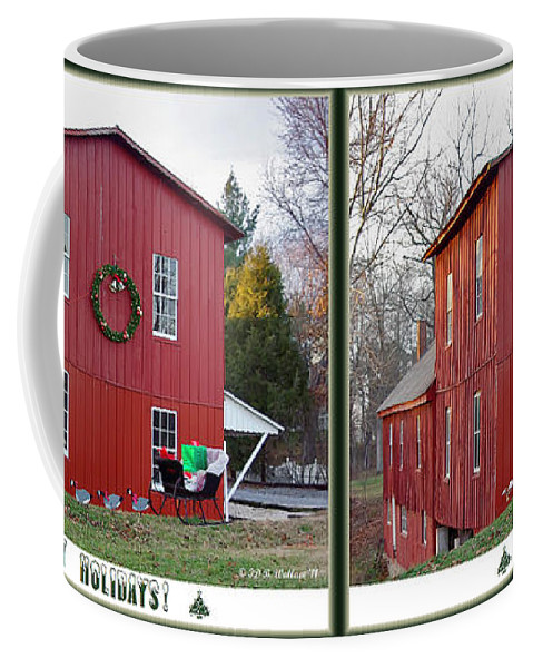 Brian Wallace Coffee Mug featuring the photograph Happy Holidays - Gently Cross Your Eyes And Focus On The Middle Image by Brian Wallace