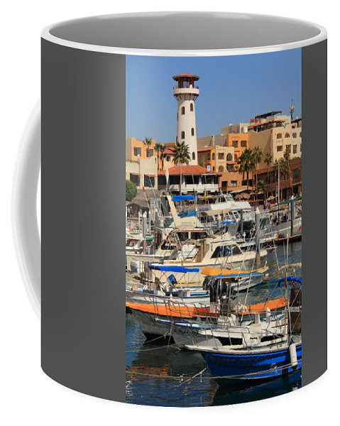 Cabo San Lucas Coffee Mug featuring the photograph Harbor Waterfront In Cabo San Lucas by Roupen Baker