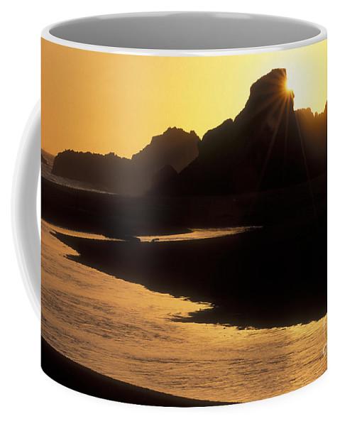 Sandra Bronstein Coffee Mug featuring the photograph Harris Beach Sunset by Sandra Bronstein