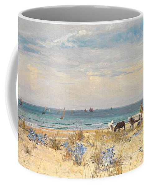 Boat Coffee Mug featuring the painting Harvesting The Land And The Sea by William Lionel Wyllie