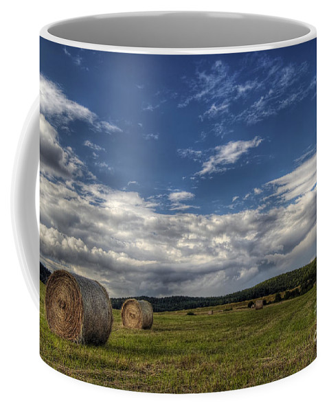 Hay Coffee Mug featuring the photograph Haymaking Time by Michal Boubin