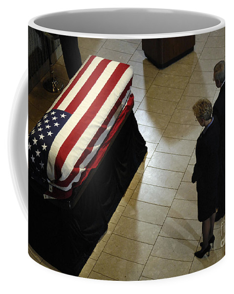 Adults Only Coffee Mug featuring the photograph He Casket Of Former President Gerald R by Stocktrek Images