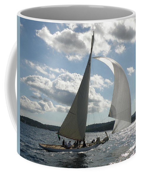 Sail Boat Coffee Mug featuring the photograph Heading Home by Lainie Wrightson