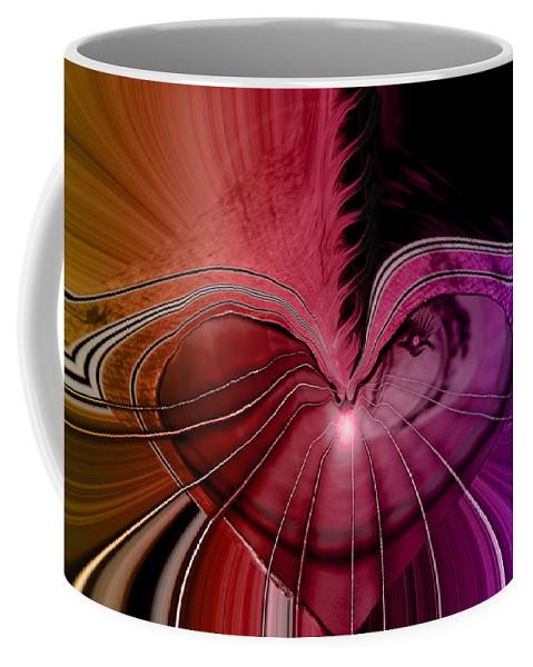 Hearts Coffee Mug featuring the digital art Heart Strings by Linda Sannuti