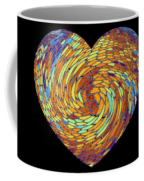 Heart Coffee Mug featuring the digital art Heartline 8 by Will Borden
