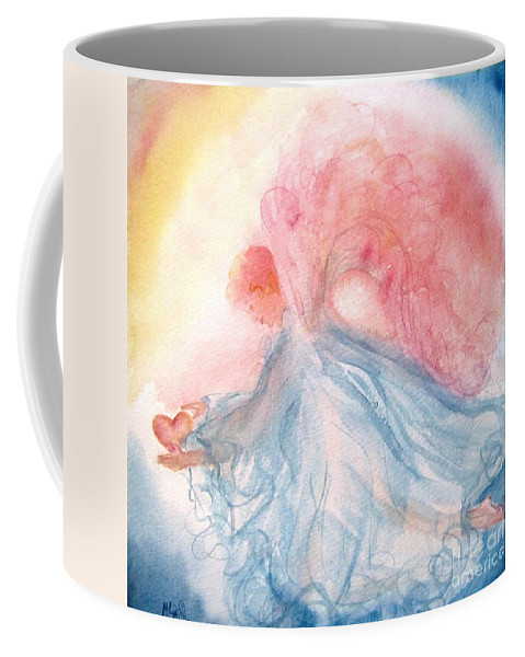 Angel Coffee Mug featuring the painting Heavenly Love by Marilyn Smith