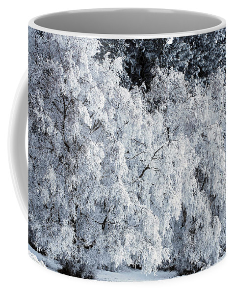 Winter Coffee Mug featuring the photograph Heavy Frost by Sharon Elliott