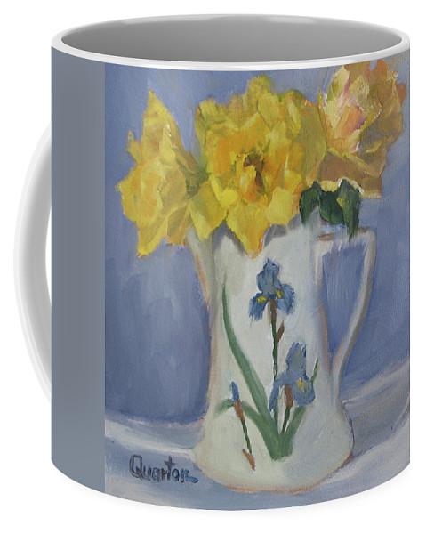 Still Life Coffee Mug featuring the painting Henry Fonda Roses by Lori Quarton