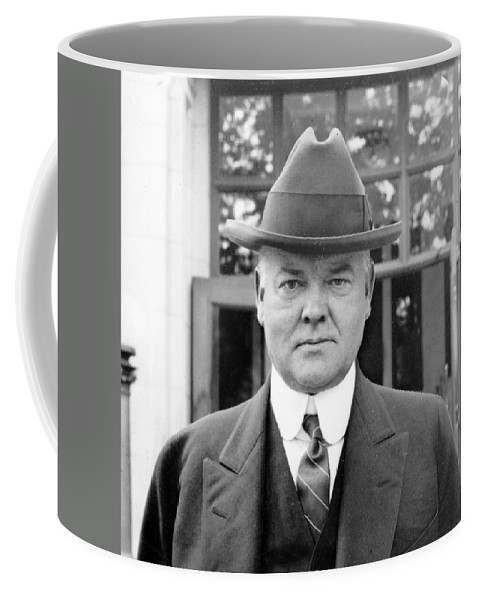 herbert Hoover Coffee Mug featuring the photograph Herbert Hoover - President Of The United States Of America - C 1924 by International Images