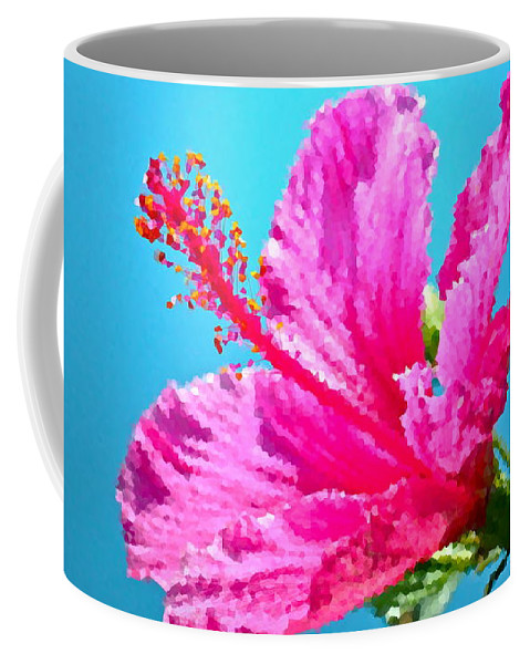 Hibiscus Coffee Mug featuring the photograph Hibiscus Crystal Luster by Gwyn Newcombe