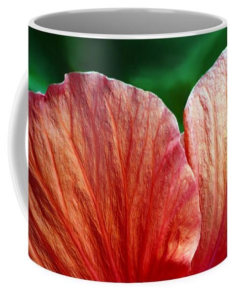 Hibiscus Coffee Mug featuring the photograph Hibiscus Fandango by Sandi OReilly