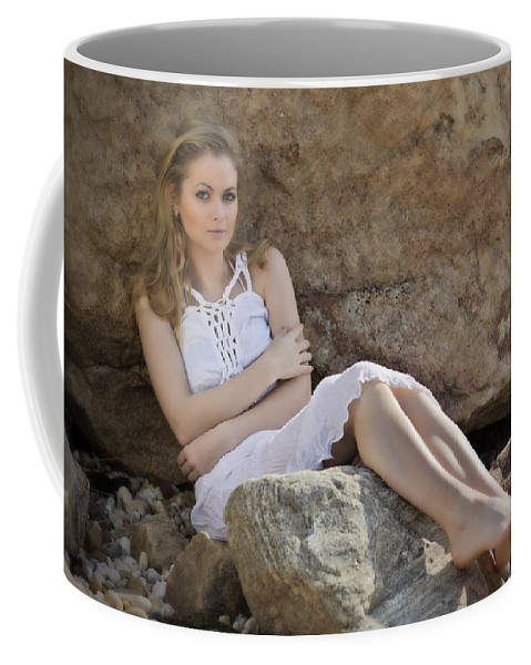 Woman Coffee Mug featuring the photograph Hiding In The Rocks by Rick Berk