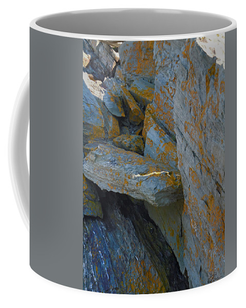 Cape_elizabeth Coffee Mug featuring the photograph Hieroglyphics Of The Sea by Nancy Griswold