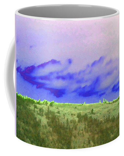 High Green Pastures Coffee Mug featuring the digital art High Green Pastures by Will Borden