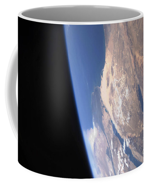 Landmass Coffee Mug featuring the photograph High Oblique Scene Looking by Stocktrek Images