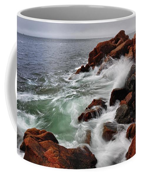 Tide Coffee Mug featuring the photograph High Tide At Bass Harbor Head by Rick Berk