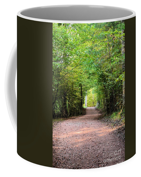 Hiking Coffee Mug featuring the photograph Hiking At Sundown by Maria Urso