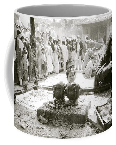 Nepali Coffee Mug featuring the photograph Hindu Festival by Shaun Higson