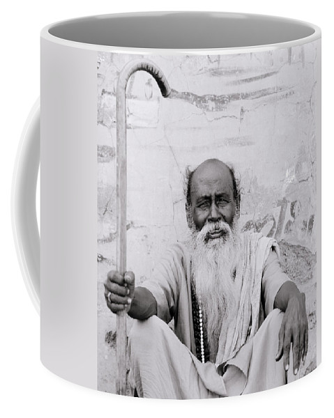 Asia Coffee Mug featuring the photograph Hindu Holyman In Benares by Shaun Higson