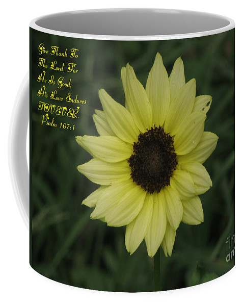 Flower Coffee Mug featuring the photograph His Love Endures Forever by Donna Brown